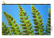 Forest Ferns Art Prints Blue Sky Botanical Baslee Troutman Carry-all Pouch