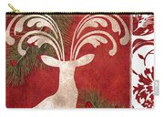 Forest Holiday Christmas Deer Carry-all Pouch