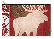 Forest Holiday Christmas Moose Carry-all Pouch