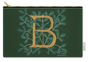 Forest Leaves Letter B Carry-all Pouch