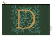 Forest Leaves Letter D Carry-all Pouch