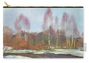 Forest River In Winter Carry-all Pouch