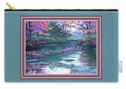 Forest River Scene. L B With Alt. Decorative Ornate Printed Frame. No. 1 Carry-all Pouch