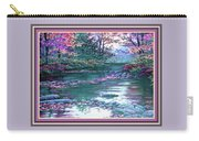 Forest River Scene. L B With Decorative Ornate Printed Frame. Carry-all Pouch