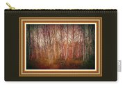 Forest Scene. L A With Decorative Ornate Printed Frame. Carry-all Pouch
