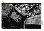 Forest Stream In Black And White Carry-all Pouch