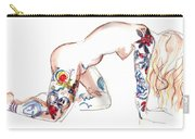 Forever Amber - Tattoed Nude Carry-all Pouch