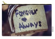 Forever And Always Paris Love Lock Carry-all Pouch