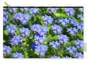 Forget Me Not Macro Carry-all Pouch