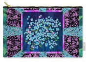 Forget Me Nots Fabric By Clothworks Carry-all Pouch