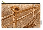 Forgetting Texas - Sepia Carry-all Pouch