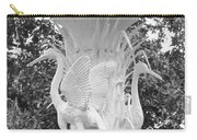 Forsyth Park Fountain - Black And White 4 2x3 Carry-all Pouch