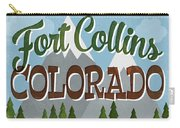 Fort Collins Colorado Snowy Mountains	 Carry-all Pouch
