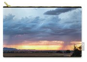 Fort Collins Colorado Sunset Lightning Storm Carry-all Pouch