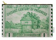 Fort Dearborn Postage Stamp Carry-all Pouch