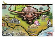 Fort Worth Texas Cartoon Map Carry-all Pouch