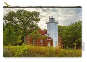 Forty Mile Point Lighthouse Lake Huron Lower Peninsilat Mi  Carry-all Pouch