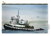 Foss Tugboat Martha Foss Carry-all Pouch by James Williamson