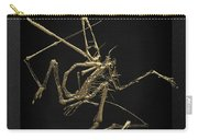 Fossil Record - Gold Pterodactyl Fossil On Black Canvas #1 Carry-all Pouch