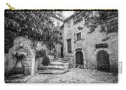 Fountain Courtyard In Eze, France 2, Blk White Carry-all Pouch