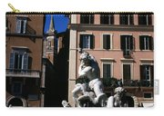 Fountain Depicting Neptune The Piazza Navona The Spire Of The Church Of Santa Maria Della Pace Rome Carry-all Pouch