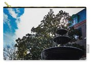 Fountain In Downtown Charleston Carry-all Pouch
