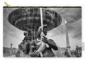 Fountain On Place De La Concorde - Paris Carry-all Pouch by Barry O Carroll