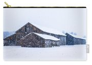 Four Barns In A Snowstorm Carry-all Pouch