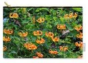 Four Butterflies On Turks Cap Lilies Carry-all Pouch