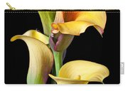 Four Calla Lilies Carry-all Pouch by Garry Gay