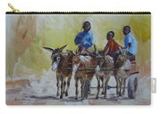 Four Donkey Drawn Cart Carry-all Pouch