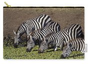 Four For Lunch - Zebras Carry-all Pouch