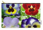 Four Pansies Carry-all Pouch
