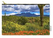 Four Peaks And Poppies, Springtime, Arizona Carry-all Pouch