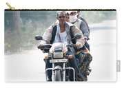 Four People On A Motorbike Carry-all Pouch