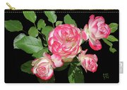 Four Roses Cutout Carry-all Pouch