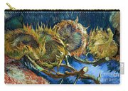 Four Sunflowers Gone To Seed, By Vincent Van Gogh, 1887, Kroller Carry-all Pouch