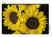 Four Sunny Sunflowers Carry-all Pouch