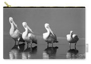 Four White Pelicans In A Funny Pose Carry-all Pouch