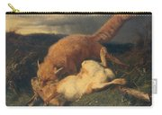 Fox And Hare Carry-all Pouch by Johann Baptist Hofner