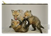 Fox Cubs At Play II Carry-all Pouch