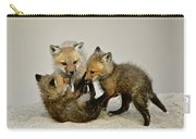 Fox Cubs At Play Carry-all Pouch