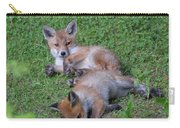 Fox Cubs Chilling Out Carry-all Pouch