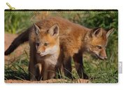 Fox Cubs Playing Carry-all Pouch by William Jobes