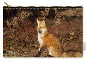 Fox In The Fall Carry-all Pouch