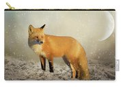 Fox In The Snowstorm - Painting Carry-all Pouch