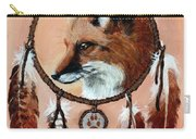 Fox Medicine Wheel Carry-all Pouch by Brandy Woods