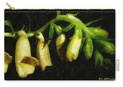 Foxglove On Wood Panel Carry-all Pouch