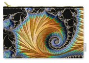 Fractal Art - Blue And Gold Carry-all Pouch