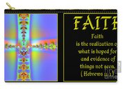 Fractal Faith Hebrews 11 Carry-all Pouch by Rose Santuci-Sofranko